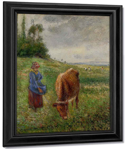 Cowherd, Pontoise1 By Camille Pissarro By Camille Pissarro
