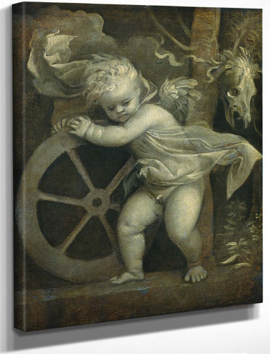 Cupid With The Wheel Of Fortune By Titian