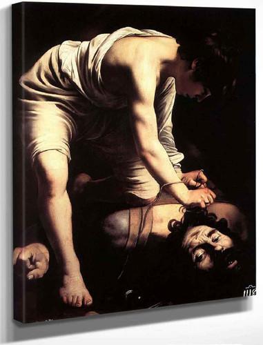 David With The Head Of Goliath By Caravaggio By Caravaggio