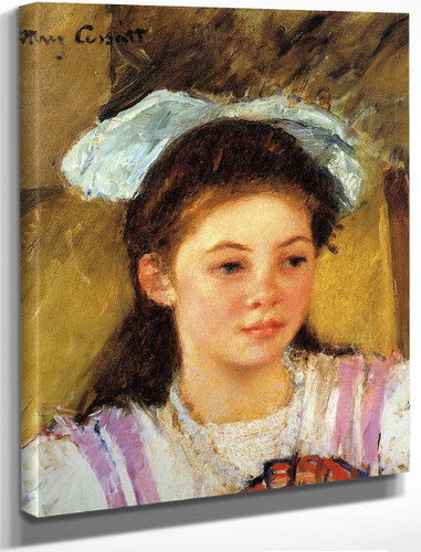 Ellen Mary Cassatt With A Large Bow In Her Hair By Mary Cassatt By Mary Cassatt