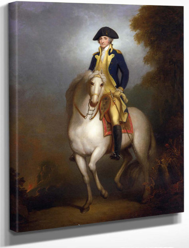Equestrian Portrait Of George Washington By Rembrandt Peale