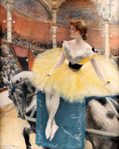 Equestrienne Au Cirque Fernando By Francois Flameng