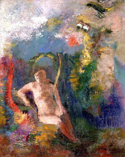 Eve In A Landscape By Odilon Redon By Odilon Redon