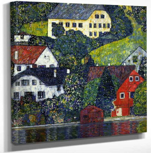 Houses At Unterach On The Attersee By Gustav Klimt Art Reproduction