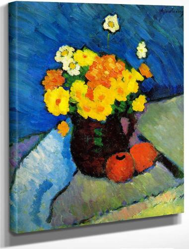 Floral Still Life By Alexei Jawlensky By Alexei Jawlensky