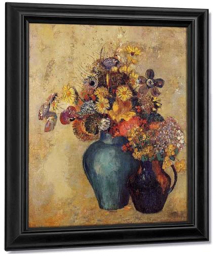 Flowers2 By Odilon Redon By Odilon Redon