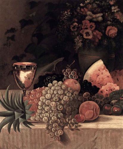 Fruit And Flower Still Life By William Merritt Chase By William Merritt Chase