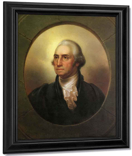 George Washington As Patriae Pater By Rembrandt Peale