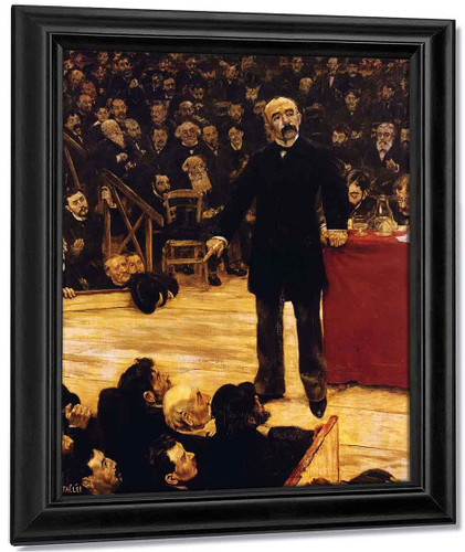 Georges Clemenceau Giving A Speech At The Cirque Fernando By Jean Francois Raffaelli By Jean Francois Raffaelli