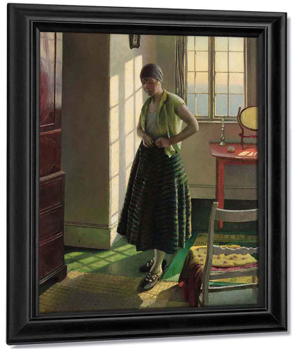 Gertrude In An Interior By Harold Harvey