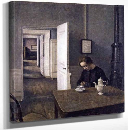 Interior Strandgade 25 By Vilhelm Hammershoi Art Reproduction