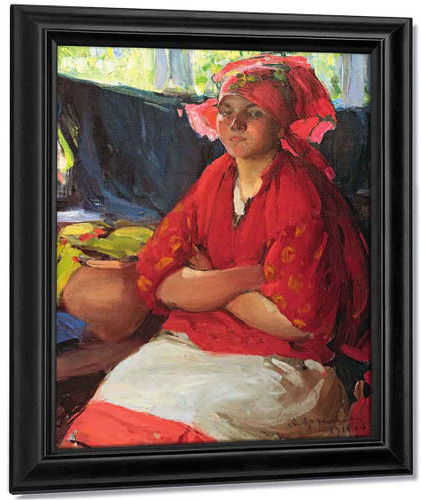 Girl In Red1 By Abram Efimovich Arkhipov