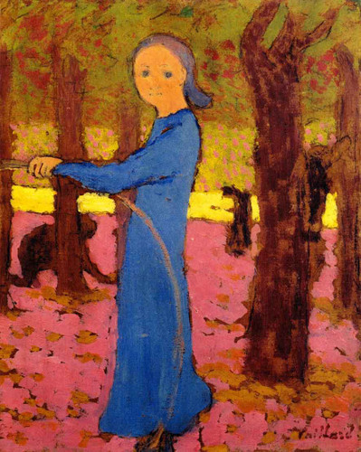 Girl With A Hoop By Edouard Vuillard
