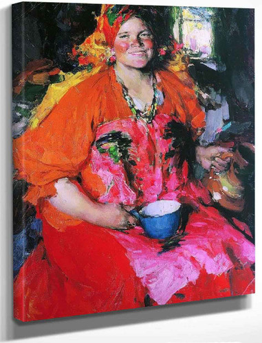 Girl With A Jug By Abram Efimovich Arkhipov