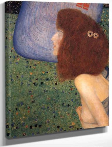 Girl With Blue Veil By Gustav Klimt By Gustav Klimt