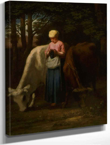 Girl With Cows By William Morris Hunt By William Morris Hunt