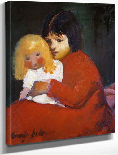 Girl With Doll By George Benjamin Luks