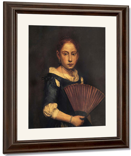 Girl With Fan By Giacomo Ceruti