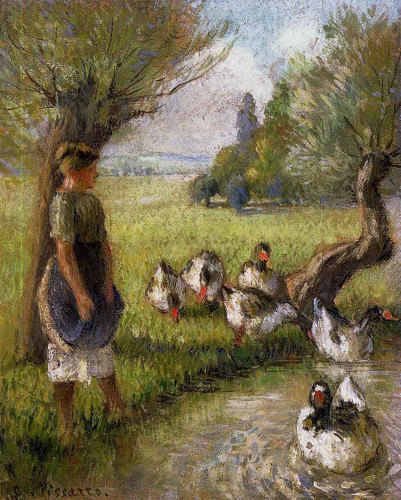 Goose Girl1 By Camille Pissarro By Camille Pissarro