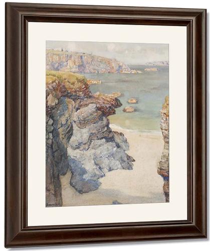 Harlyn Bay, Trevose, Cornwall By Albert Moulton Foweraker