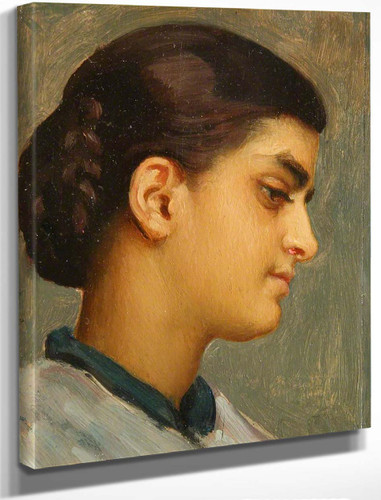 Head Of Spanish Girl By Sir Frederic Lord Leighton