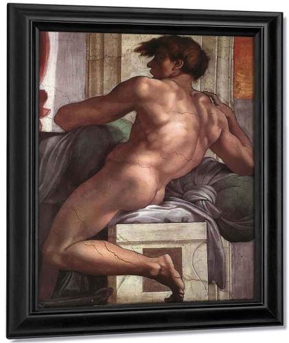 Ignudo11 By Michelangelo Buonarroti By Michelangelo Buonarroti