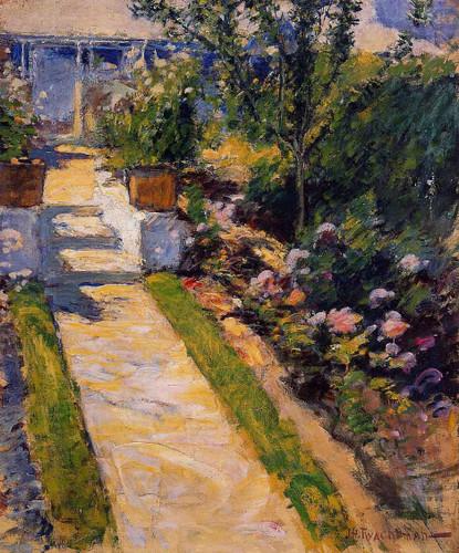 In The Garden By John Twachtman