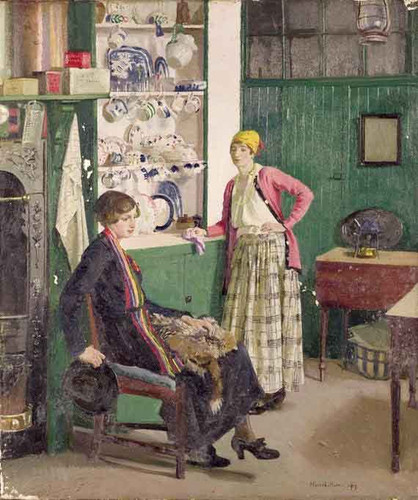 In The Kitchen By Harold Harvey