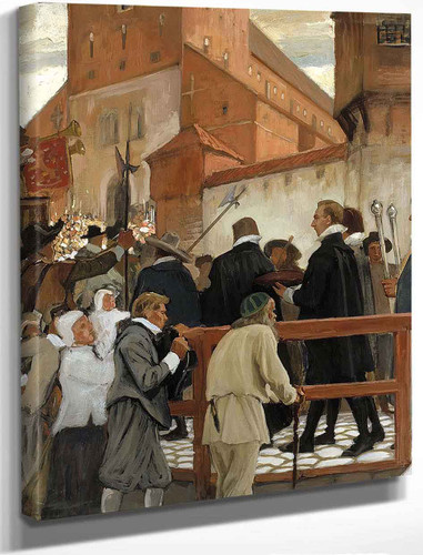 Inauguration Of The Turku Academy. Part 1 By Albert Edelfelt