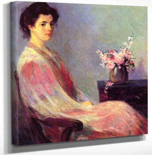 Lady In Pink By Bernhard Gutmann Art Reproduction