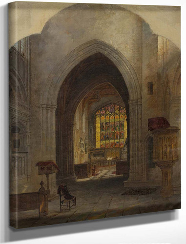Interior Of A Cathedral By Jasper Francis Cropsey By Jasper Francis Cropsey