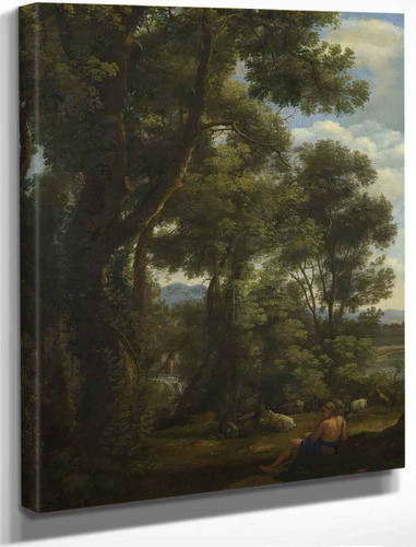 Landscape With A Goatherd And Goats By Claude Lorrain By Claude Lorrain