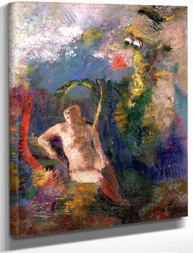 Landscape With Eve By Odilon Redon By Odilon Redon