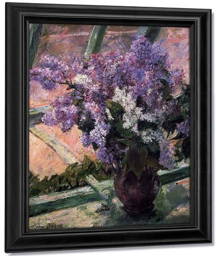 Lilacs In A Window By Mary Cassatt By Mary Cassatt