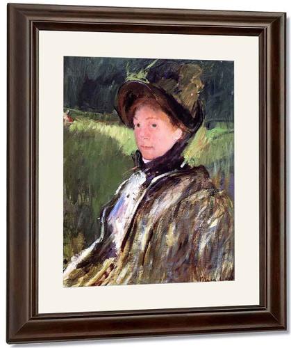 Lydia Cassatt In A Green Bonnet And A Coat By Mary Cassatt By Mary Cassatt