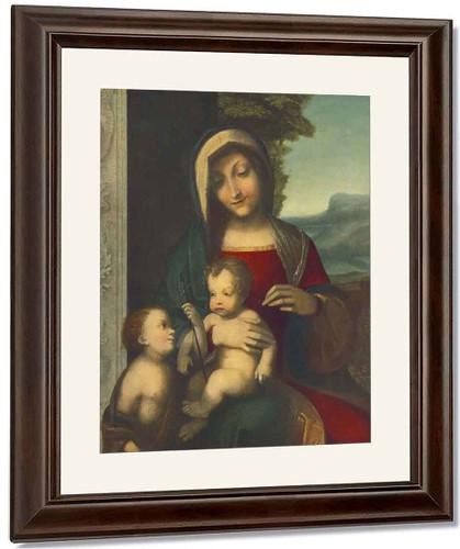 Madonna By Correggio By Correggio