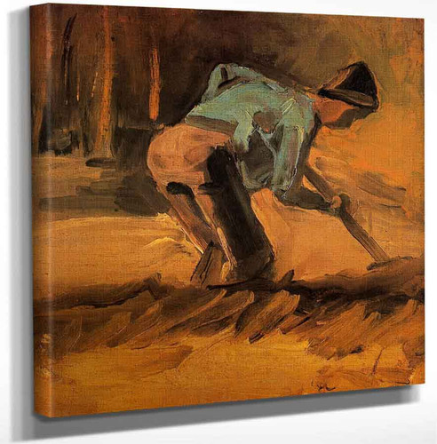 Man Digging By Vincent Van Gogh Art Reproduction