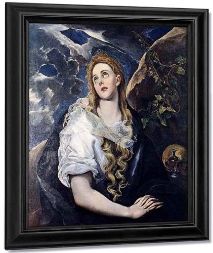 Mary Magdalen In Penitence By El Greco By El Greco