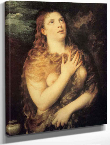 Mary Magdalen Repentant By Titian
