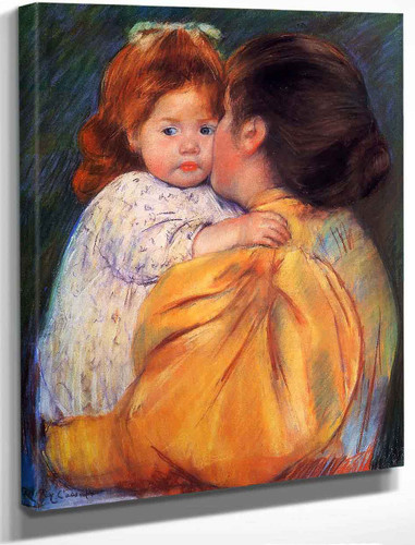 Maternal Kiss 2 By Mary Cassatt By Mary Cassatt