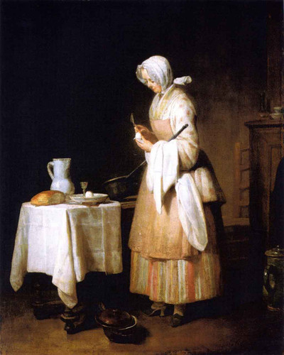 Meal For A Convalescent By Jean Baptiste Simeon Chardin By Jean Baptiste Simeon Chardin