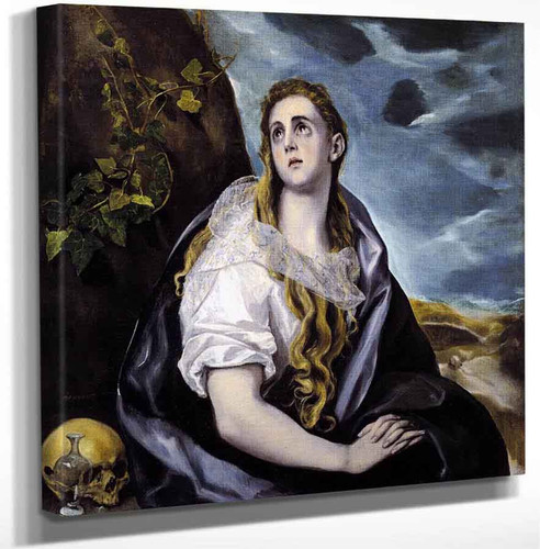 Mary Magdalen In Penitence3 By El Greco Art Reproduction