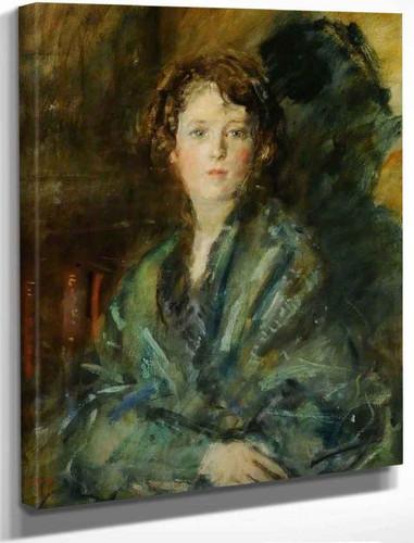 Miss Joan Claudia Johnson, In Green By Ambrose Mcevoy