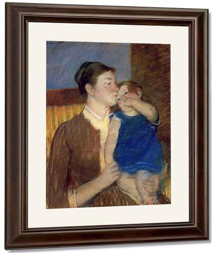 Mother's Goodnight Kiss By Mary Cassatt By Mary Cassatt