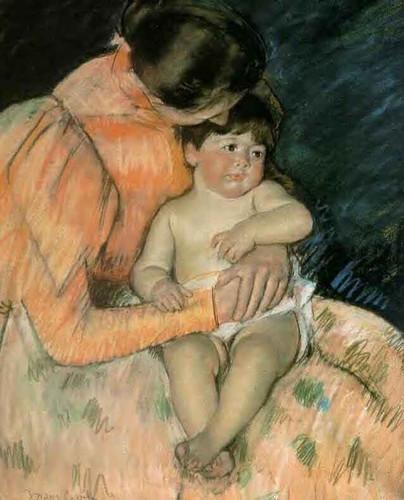 Mother And Child3 By Mary Cassatt By Mary Cassatt