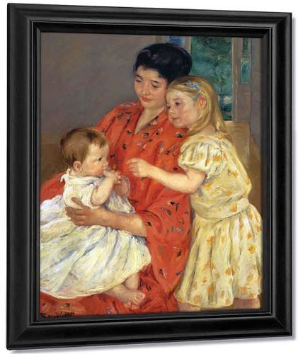 Mother And Sara Admiring The Baby1 By Mary Cassatt By Mary Cassatt