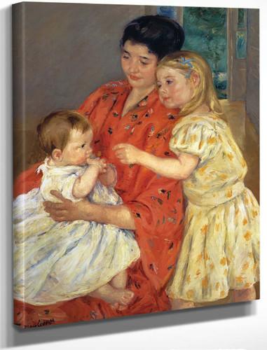 Mother And Sara Admiring The Baby By Mary Cassatt By Mary Cassatt