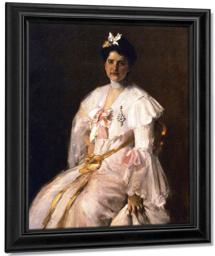 Mrs. Chase By William Merritt Chase By William Merritt Chase