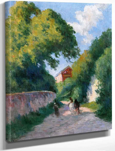 Near Rolleboise, Returning To The Farm By Maximilien Luce By Maximilien Luce