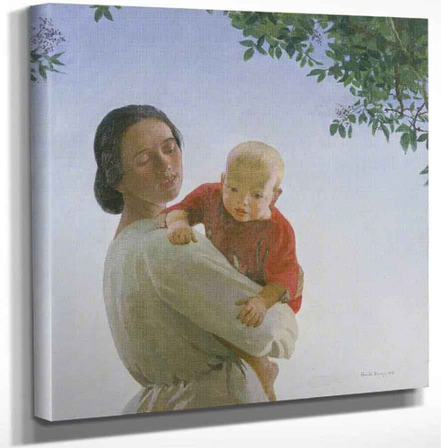 Mother And Child By Harold Harvey Art Reproduction